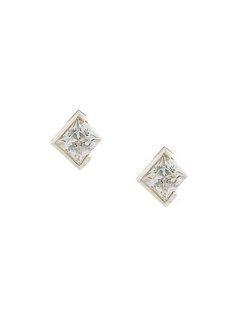 Shop metallic E.M. cut out earrings with Express Delivery - Farfetch