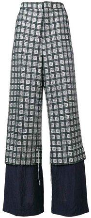 trousers in lightweight micro tweed