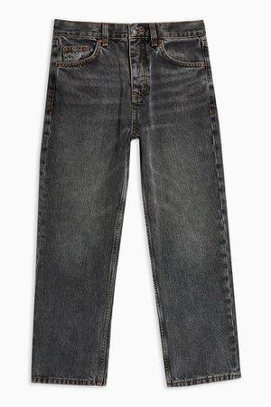 PETITE Grey Editor Straight Leg Jeans | Topshop