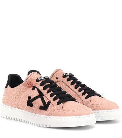 Carryover embossed suede sneakers