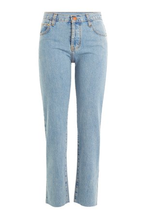 Cropped Straight Leg Jeans Gr. 31