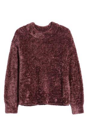 Lou & Grey Velvet Eyelash Sweater   Nordstrom