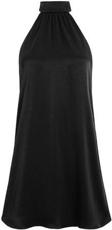 Crystal Tie Neck Halter Mini Dress