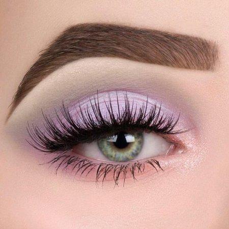 Glossy Lilac & Pink/Peach Eye Makeup