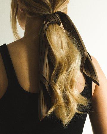 Hair Scarf Low Ponytail