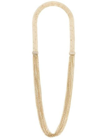 Lanvin long chain and fringe necklace
