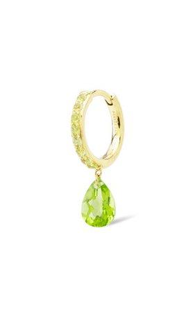 18k Yellow Gold Peridot Earring By Persée | Moda Operandi
