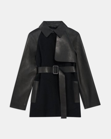Trench Coat in Double-Face Wool-Cashmere Combo