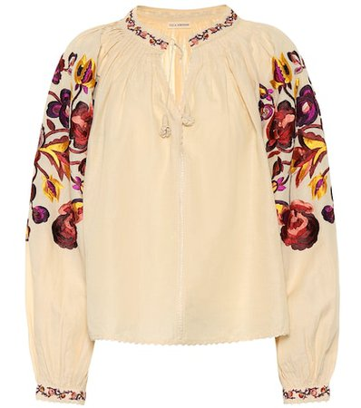 Simona linen and cotton blouse