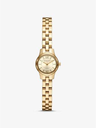 Extra Petite Runway Gold-tone Watch | Michael Kors