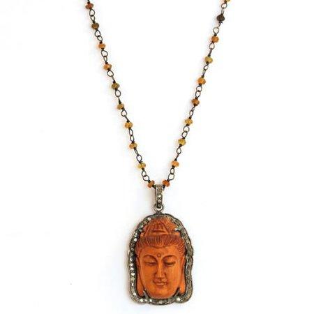 rust buddha stone earrings - Google Search