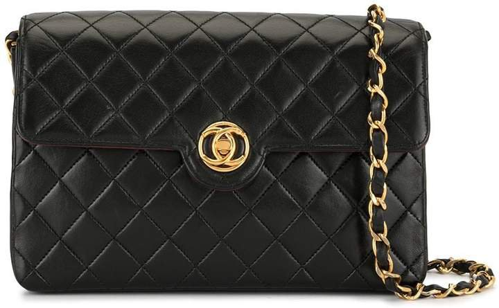 Pre-Owned diamond quilted chain crossbody bag