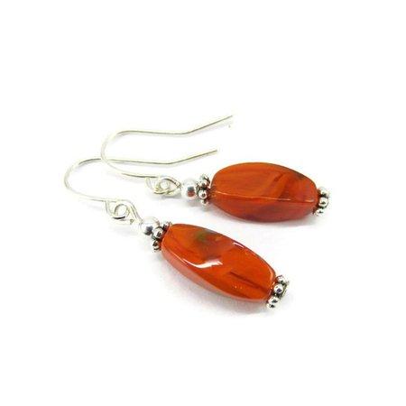 Burnt Orange Earrings by studio1227 on Etsy