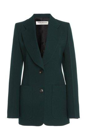Patch Pocket Wool Blazer By Victoria Beckham   Moda Operandi