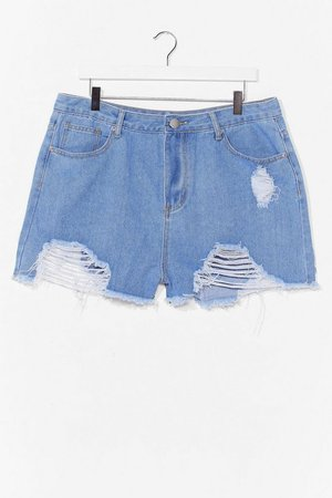 Best Distressed Plus Denim Shorts | Nasty Gal