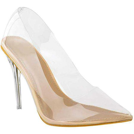 Amazon.com | Fashion Thirsty Womens Court Shoes Perspex Clear High Heel Stilettos Pumps Clear Party Size | Pumps