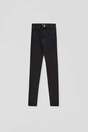 Jeans legging tiro alto canesú - PULL&BEAR