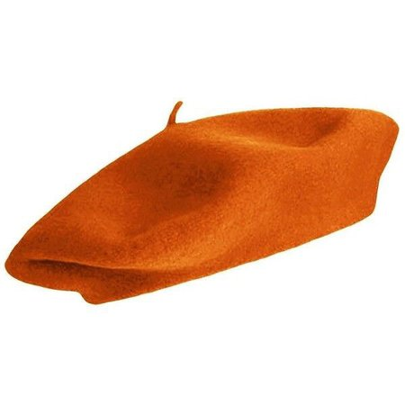 Orange Wool Beret - Parisian Style Wool Beret In Radiant Orange