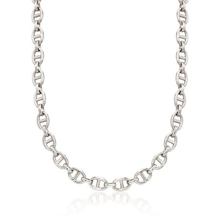 Italian Sterling Silver Marine-Link Necklace | Ross-Simons