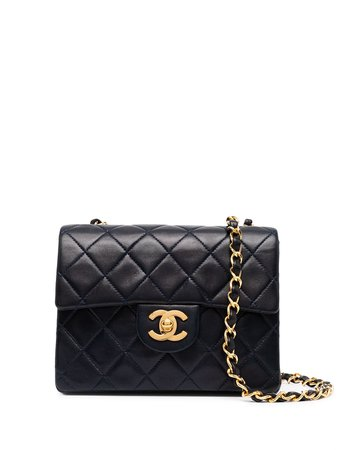 Chanel Pre-Owned 1990 Small Classic Flap Shoulder Bag - Farfetch
