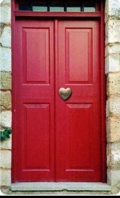 Happy Valentine's Day | Beautiful Doors & Windows | Pinterest | Red, Heart and Doors