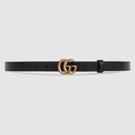 black thin gucci belt