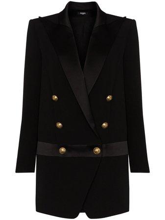 peak-lapel Blazer Dress