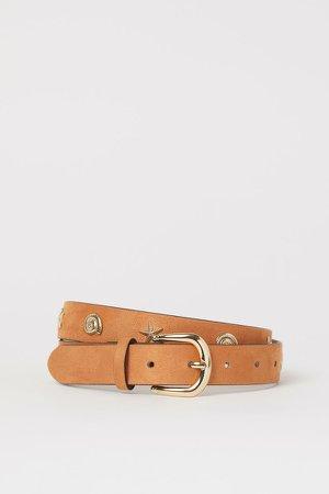 Appliqued Belt - Orange