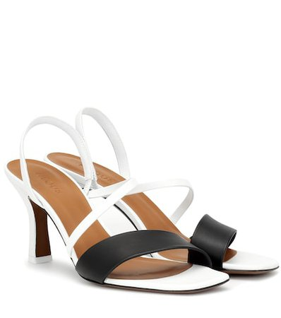 Ecu leather sandals