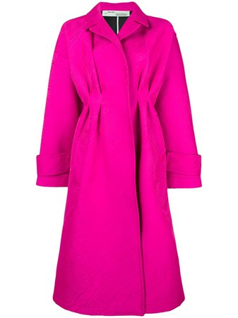 Off-White pleated empire seam coat £2,031 - Fast Global Shipping, Free Returns