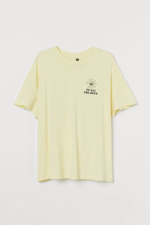 H&M+ Printed T-shirt - Yellow