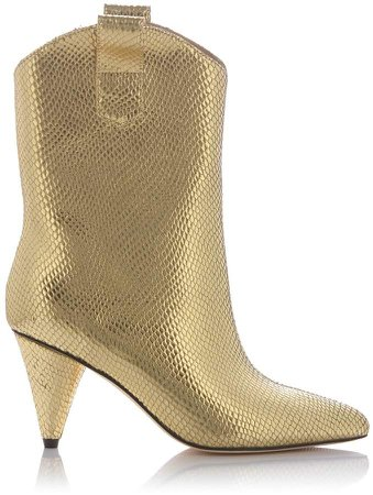 Nissa Metallic Effect Ankle Boots