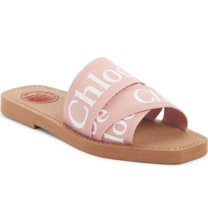 Chloé Logo Slide Sandal (Women)   Nordstrom