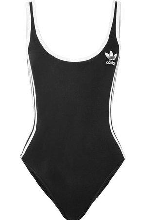 adidas Originals | Striped stretch-jersey bodysuit | NET-A-PORTER.COM