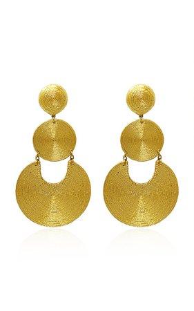 La Tropezienne Silk-Cord Clip Earrings by Rebecca de Ravenel   Moda Operandi