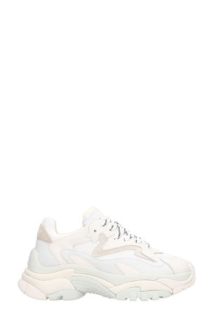 Ash Addict 2 Trainers White Leather And Mesh