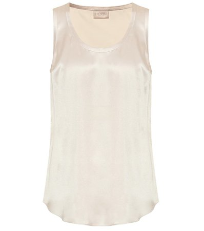Stretch-Silk Tank Top