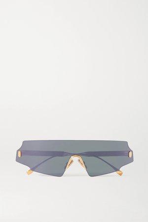 Pink D-frame rose gold-tone sunglasses | Fendi | NET-A-PORTER