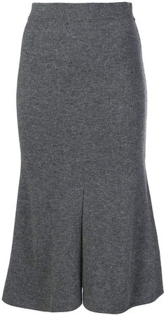 Cashmere In Love flared knitted skirt