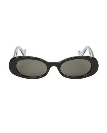 Bi-Layer Oval Sunglasses