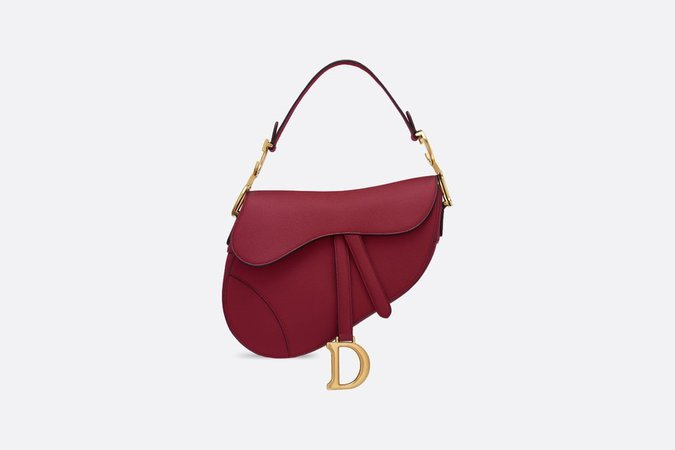 Saddle Bag Cherry Red Grained Calfskin - Bags - Women's Fashion | DIOR