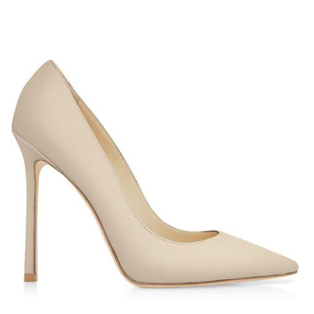 Made-to-Order Romy 110 Closed Shoe In Chalk Leather 110mm High Heel Pumps