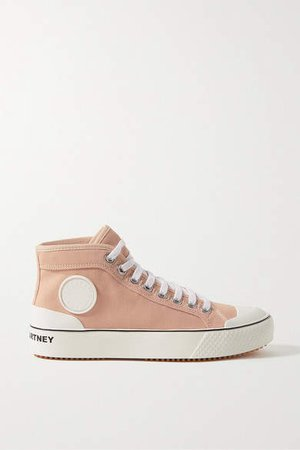 Canvas High-top Sneakers - Blush