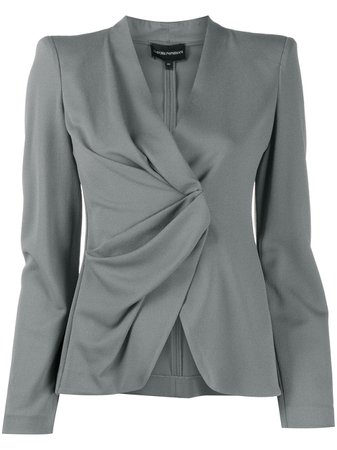 Ruched Detail Blazer