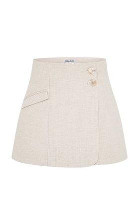 Jenna Cotton-Linen Mini Skirt By Anna Quan | Moda Operandi