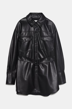 FAUX LEATHER JACKET | ZARA United States