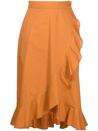 Pinko ruffle-wrap Skirt - Farfetch