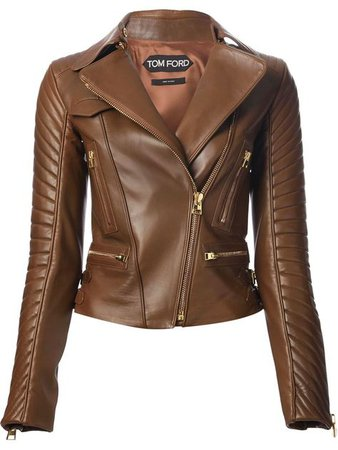 tom ford brown leather jacket