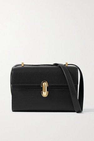 Savette - Symmetry 19 Leather Shoulder Bag - Black