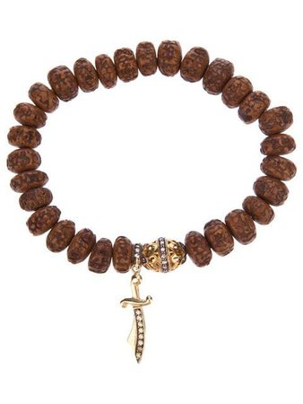 Loree Rodkin carved wood beaded diamond bracelet $2,850 - Buy SS19 Online - Fast Global Delivery, Price
